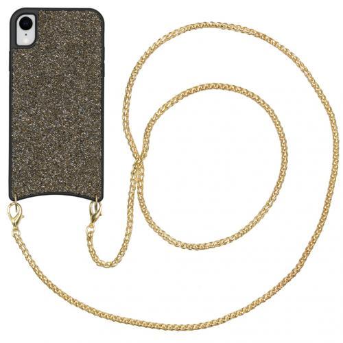 Sparkle Backcover met ketting voor de iPhone Xr - Goud