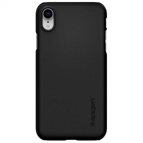 Thin Fit Backcover voor iPhone Xr - Zwart