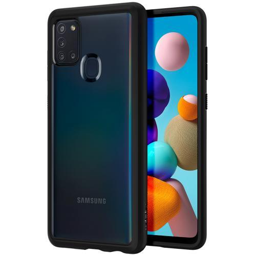 Ultra Hybrid Backcover voor de Samsung Galaxy A21s - Zwart