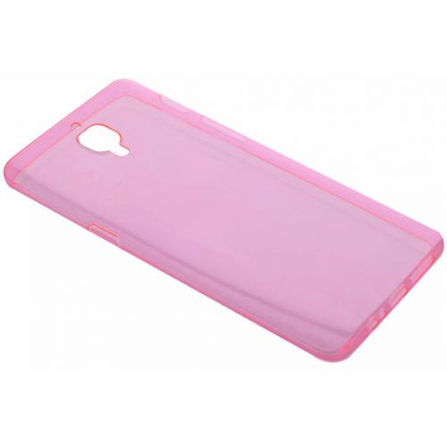 Ultra Thin Transparant Backcover voor OnePlus 3 / 3T - Roze