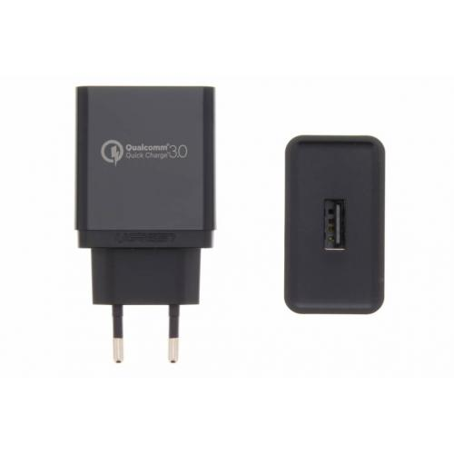 Wall Charger with Qualcomm Quick Charger 3.0 Technology 3 ampère - Zwart