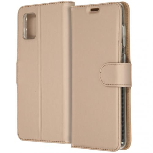 Wallet Softcase Booktype voor de Samsung Galaxy A31 - Goud
