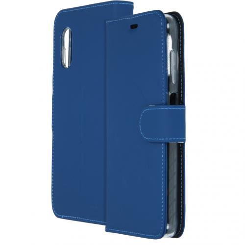 Wallet Softcase Booktype voor de Samsung Galaxy Xcover Pro - Blauw