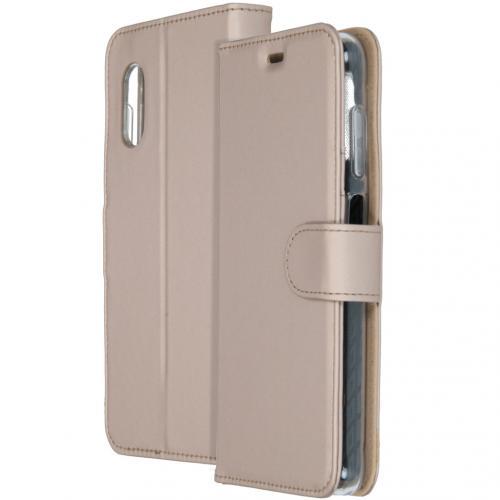 Wallet Softcase Booktype voor de Samsung Galaxy Xcover Pro - Goud