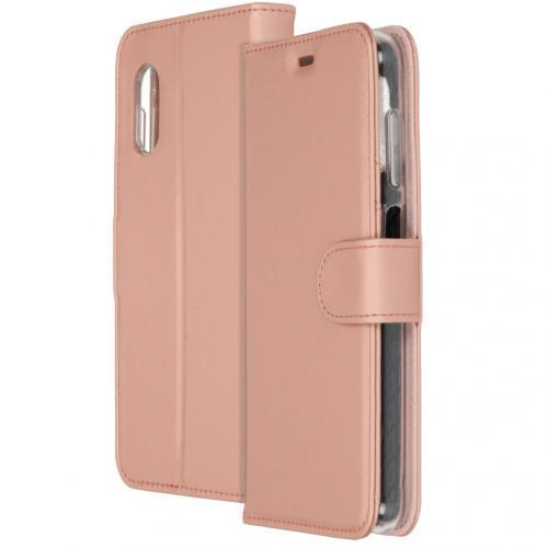 Wallet Softcase Booktype voor de Samsung Galaxy Xcover Pro - Rosé Goud