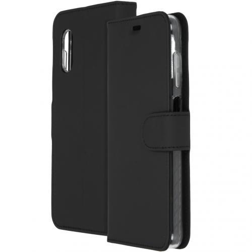 Wallet Softcase Booktype voor de Samsung Galaxy Xcover Pro - Zwart