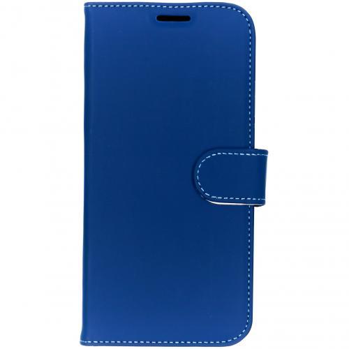 Wallet Softcase Booktype voor iPhone Xs Max - Donkerblauw