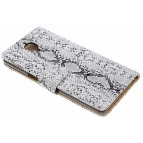Witte slangenprint booktype hoes voor de OnePlus 3 / 3T