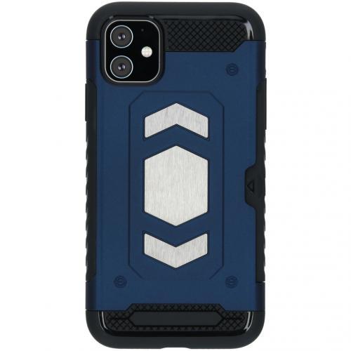 Xtreme Backcover met pashouder voor de iPhone 11 - Blauw