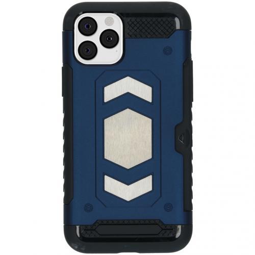 Xtreme Backcover met pashouder voor de iPhone 11 Pro - Blauw