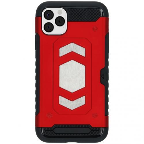 Xtreme Backcover met pashouder voor de iPhone 11 Pro Max - Rood