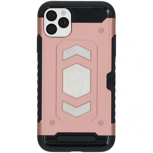 Xtreme Backcover met pashouder voor de iPhone 11 Pro Max - Rosé Goud