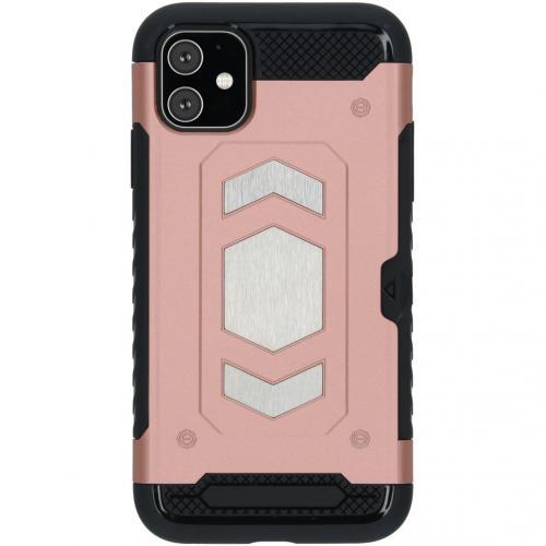 Xtreme Backcover met pashouder voor de iPhone 11 - Rosé Goud