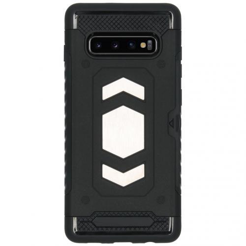 Xtreme Backcover met pashouder voor de Samsung Galaxy S10 Plus - Zwart