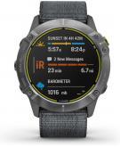 Garmin Enduro GPS Sporthorloge Gray Nylon Solar 51mm