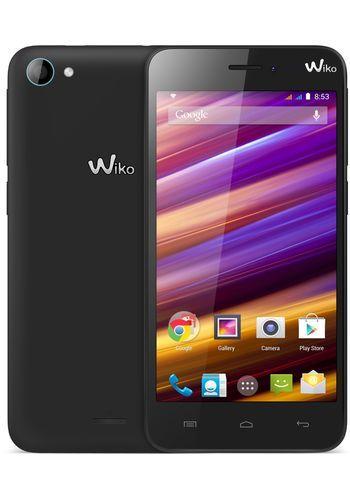 WIKO Jimmy 4.5 inch Dual-SIM Smartphone Android 4.4 1.3 GHz Quad Core Zwart/blauw Zwart Zwart