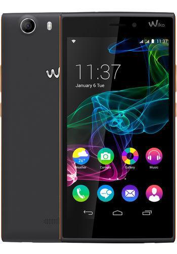 WIKO Ridge 5 inch Dual-SIM smartphone Android 4.4.4 1.2 GHz Quad Core Zwart/oranje Zwart oranje Zwart oranje